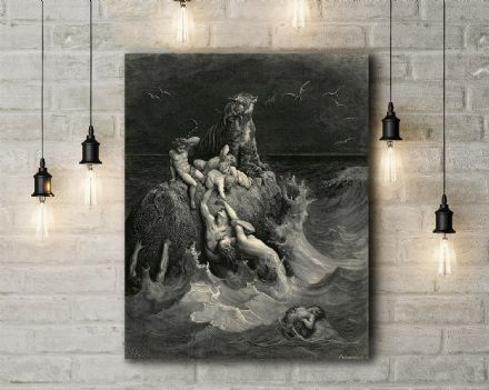 Gustave Dore: The Deluge. Fine Art Canvas.